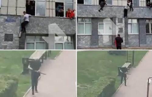 JEZIVE scene u Rusiji: Pucnjava na univerzitetu, studenti beže kroz prozor, snimljen NAPADAČ (VIDEO)