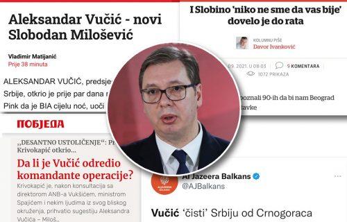 Orkestrirana kampanja Hrvata, Milovih medija i njihovih satelita: Vučića okriviti za sve! (FOTO)