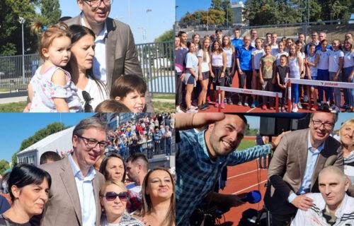 """Vučić nakon posete Kraljevu: """"Ne postoji lepši osećaj nego biti sa ljudima u našoj lepoj Srbiji"""" (FOTO)"""
