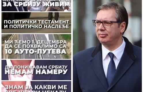 """Predsednik Vučić svestan kakvi ga UDARI čekaju: """"Mene samo Srbija zanima, za Srbiju živim"""" (VIDEO)"""