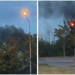 Gust crni DIM se nadvio nad čitavim delom grada: Prvi SNIMAK požara na Paliluli (VIDEO)
