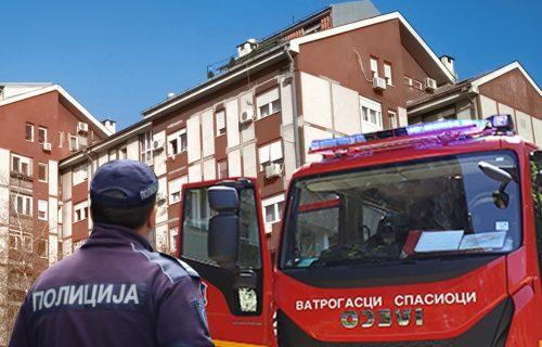 HOROR na Zvezdari: Pronađeno TELO u oknu lifta, policija i vatrogasci na licu mesta