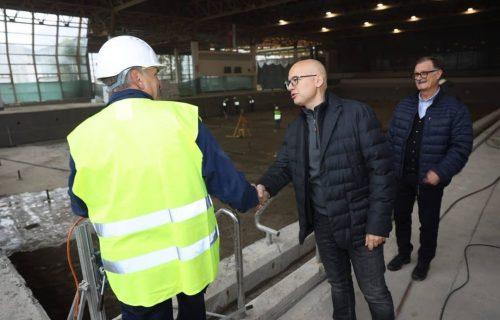 Vučević obišao RADOVE na olimpijskom bazenu na SPENS-u: Biće urađeni po FINA standardima (FOTO)