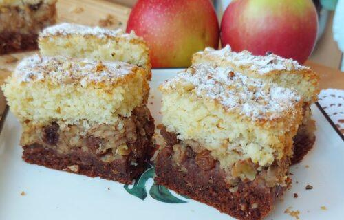 Cimet, jabuke i orasi: Jednostavan kolač koji će vas oboriti s nogu (RECEPT+VIDEO)