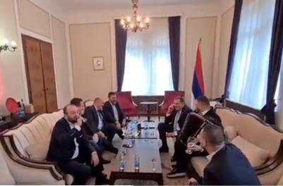 Ispunio obećanje, začula se muzika: Dodik doveo HARMONIKAŠA u Predsedništvo BiH (VIDEO)