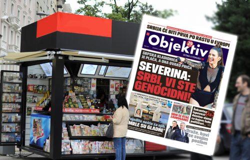 Danas u novinama Objektiv: Severina pljuje po Srbima, Vučić objavio lepe vesti (NASLOVNA STRANA)