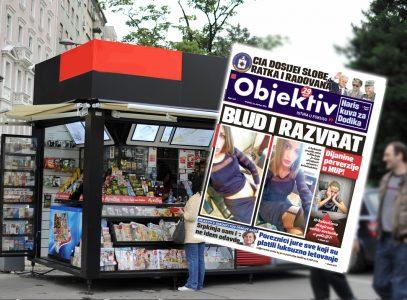 Sutra u novinama Objektiv: Dijanine perverzije u MUP, CIA dosijei Miloševića i Mladića (NASLOVNA STRANA)