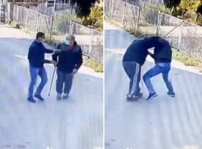 STRAVIČAN snimak pljačke u Beogradu: Lopov napao starca, oborio ga na zemlju, pa POKRAO (VIDEO)