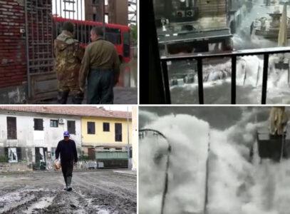APOKALIPTIČNE SCENE sa Sicilije: Uragan nastavlja da razara! Ulice postale podivljale reke (VIDEO)