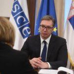 Vučić sa generalnom sekretarkom OEBS-a: Za Srbiju je rad na nastavku reformi od ključnog interesa (FOTO)