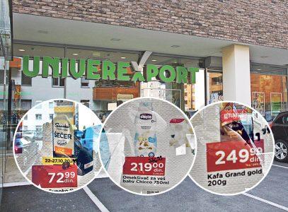 Univereksport pljačka kupce: Objavili plakat sa sniženjima, pa FLOMASTEROM dopisali VIŠE cene (FOTO)