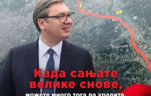 """Predsednik Vučić uputio SNAŽNE REČI građanima: """"Veliki snovi postaju velika dela, živela Srbija"""" (FOTO)"""
