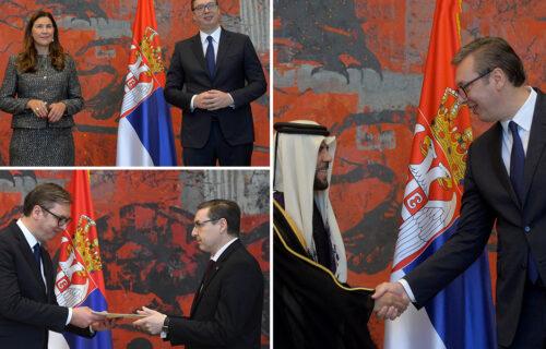 Predsednik Vučić primio akreditivna pisma novih ambasadora Švedske, Katara i Australije (FOTO)