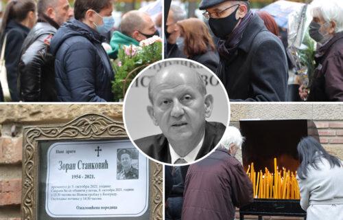 TUGA na sahrani Zorana Stankovića: Porodica NEUTEŠNA, muk na Novom groblju (FOTO)