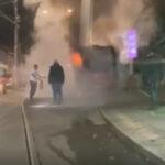 GORI autobus u Beogradu: Požar kod Autokomande (VIDEO)