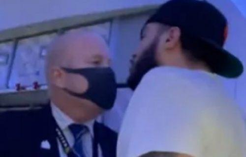 """""""Saznaću gde živiš, pazi se!"""": Antivakser zbog maske pretio članu posade, pa ga ovako kaznili (VIDEO)"""