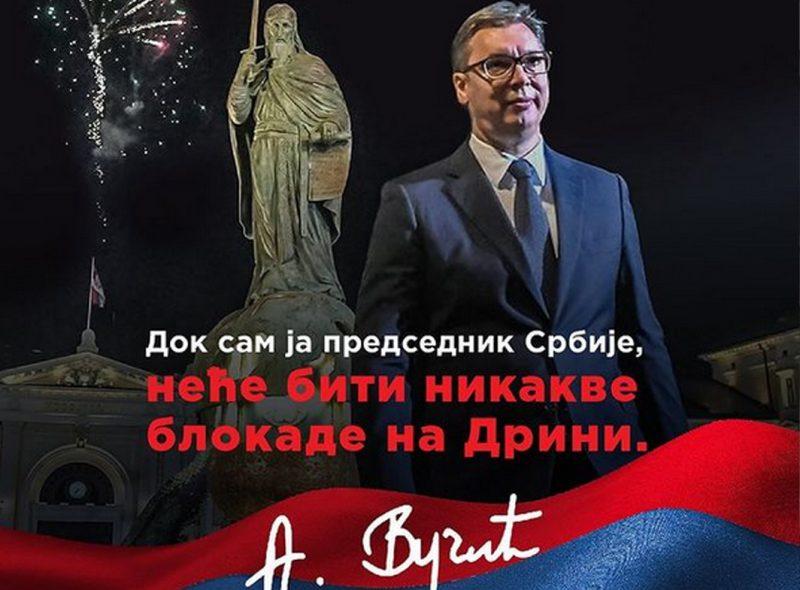"""Predsednik Vučić ponovio: """"Naš stav je čvrst i jasan, NEĆE BITI nikakve blokade na Drini"""" (FOTO)"""