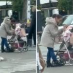"""(UZNEMIRUJUĆI VIDEO) Majka ŠAMARA bebu nasred ulice u Novom Sadu: """"Pobogu, ženo, imaš li duše?"""""""
