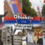 """Srpske trobojke i grafiti """"NEMA PREDAJE"""": Ovako izgleda Kosovska Mitrovica dan pred izbore na KiM (FOTO)"""