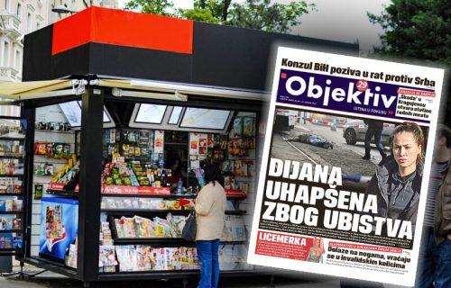 Danas u novinama Objektiv: Uhapšena Dijana Hrkalović, alarmantno u bolnicama u Srbiji (NASLOVNA STRANA)