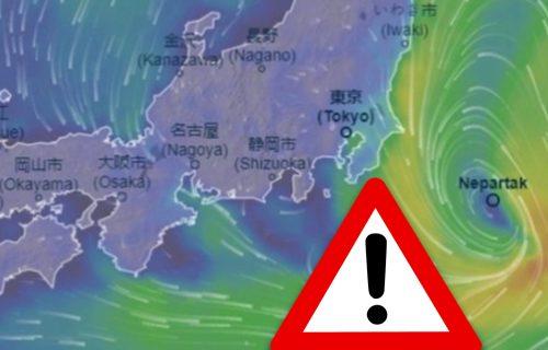 Tajfun pogodio Japan! Vetar dostigao brzinu od čak 162 kilometara na čas, stanovnici UPOZORENI