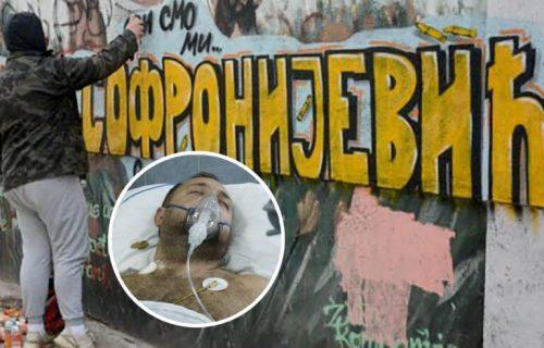 """""""Svi smo mi Srećko"""": Osvanuo mural podrške TEŠKO RANJENOM Srbinu na Kosovu (FOTO)"""