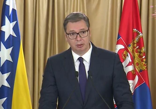 Vučić nakon sastanka sa Dodikom: Razgovarali smo o spajanju Srbije i Srpske (VIDEO)
