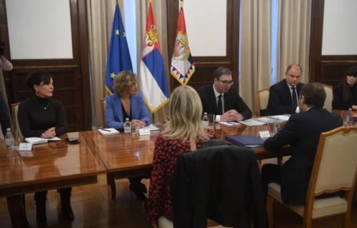 Predsednik Vučić se sastao sa Žiofreom: Izveštaj Evropske komisije objektivan i prikazao napredak Srbije