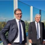 Vučić se sastao sa Čovićem: Naš odgovor na sve krize je potpuno jasan - dogovor tri naroda (FOTO)